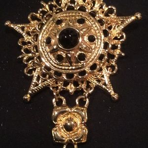St. John Jewelry - St John Gold and Black Brooch